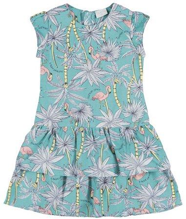 Vestido | Quimby - Flamingo Verde