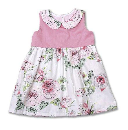 Vestido Retrô Rosas
