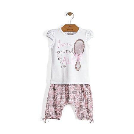 Conjuntinho Batinha + Calça Saruel | Up Baby - I´m the prettiest