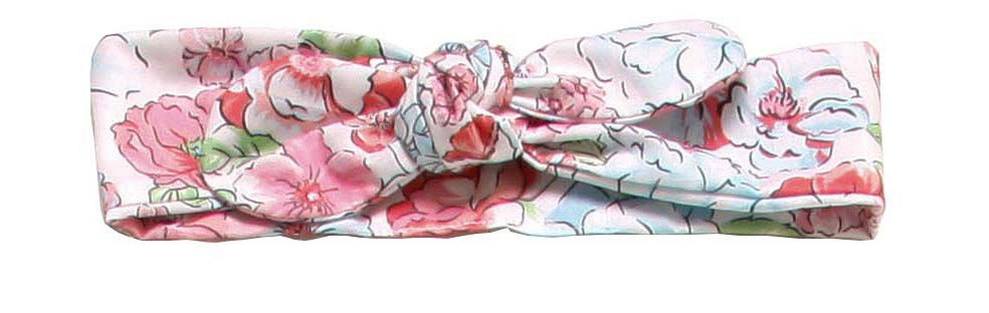 Faixinha turbante - Nina Floral White