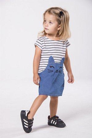 Vestido Gatinha Jeans | Mescla