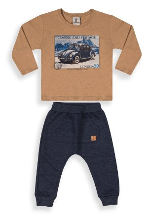 Conjunto Calça saruel + camiseta manga longa - Vintage