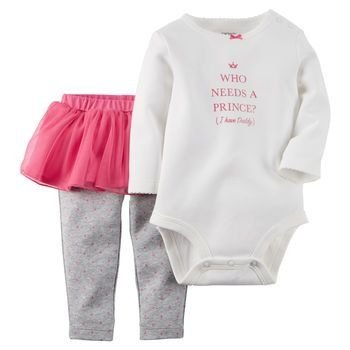 "Conjunto legging bailarina + body ML "" Princess"" - Carter´s"