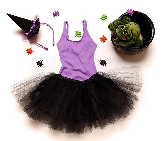Fantasia bruxinha tutu preto
