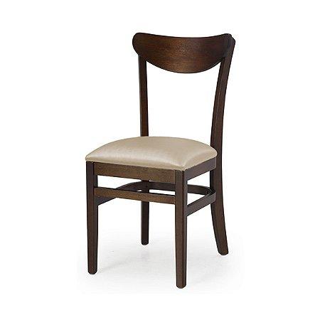 Cadeira Lisboa em madeira Assento Estofado