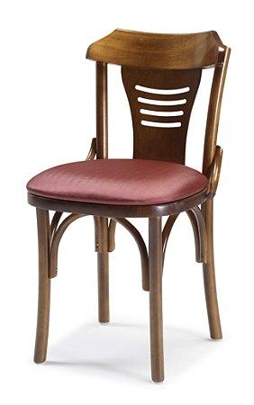 Cadeira Nevoy Castanho assento Estofado cor 347 cod. 4.2.199
