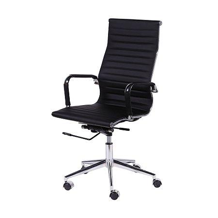 Cadeira office Esteirinha Alta Corino Preta