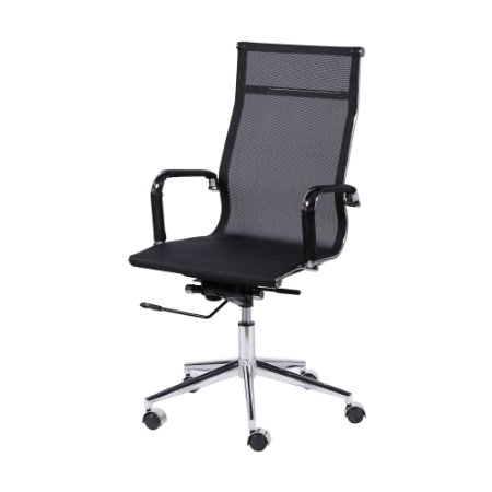 Cadeira Office Tela Alta Preta