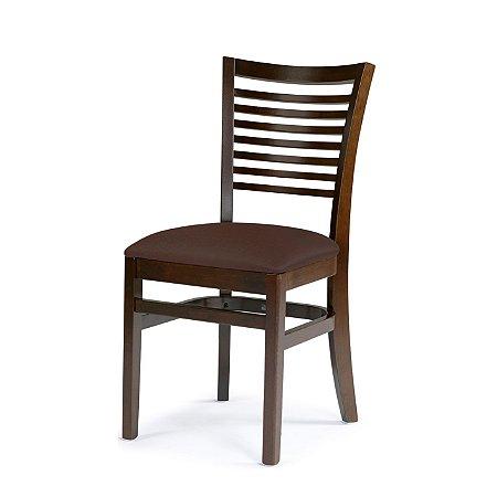 Cadeira Chicago Assento Estofado Marrom 4.2.925