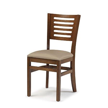 Cadeira Lina Assento Estofado Bege 4.2.923