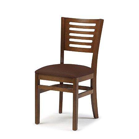 Cadeira Lina Assento Estofado Marrom 4.2.925