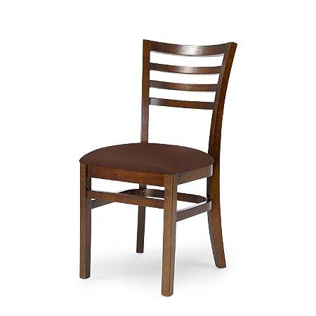 Cadeira Luanda Assento Estofado Marrom 4.2.925