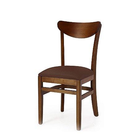 Cadeira Lisboa Assento Estofado Marrom 4.2.925