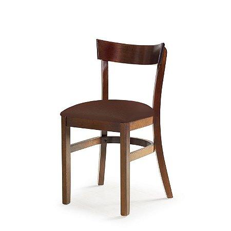 Cadeira Barcelona Assento Estofado Marrom 4.2.925