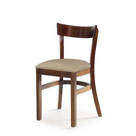 Cadeira Barcelona Assento Estofado Bege 4.2.923