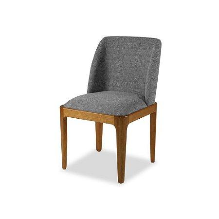 Cadeira Avidità Castanho assento e encosto Estofado Cinza Grafiatto COD. 4.2.487