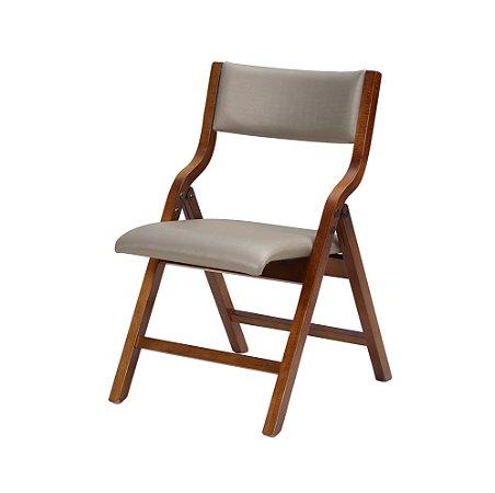 Cadeira Audace Dobrável Cor Castanho Assento E Encosto Estofado Dunas 4.2.211