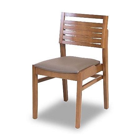 Cadeira Bangkok em Madeira maciça Assento Estofado E Encosto Em Madeira