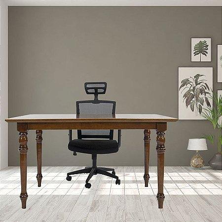 Mesa Parthenon e Cadeira New Ergon com encosto de cabeça Para Home Office