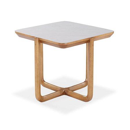 Mesa de canto Lavie madeira maciça e MDF