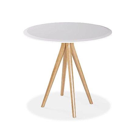 Mesa Bene em madeira maciça tampo em MDF e pintura na cor branca