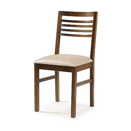 Cadeira Buenos Aires em madeira Assento Estofado