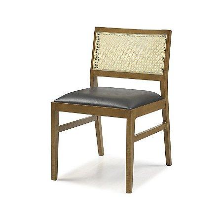 Cadeira Egito em madeira Encosto Com Tela