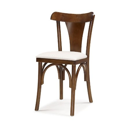 Cadeira Nice em madeira Assento Estofado