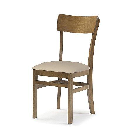 Cadeira Portugal em madeira cor Carvalho Assento Estofado cor Manteiga Cod. 4.2.5