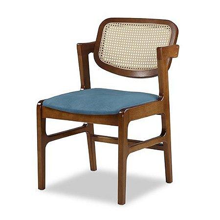 Cadeira Certitude assento estofado encosto em tela