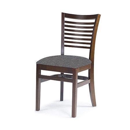 Cadeira Chicago Castanho Assento Estofado