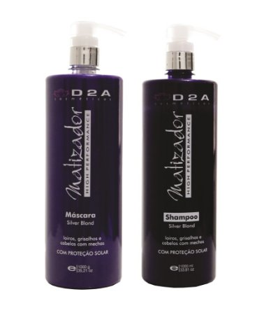 Kit Shampoo e Máscara Matizadora D2A - Linha Profissional