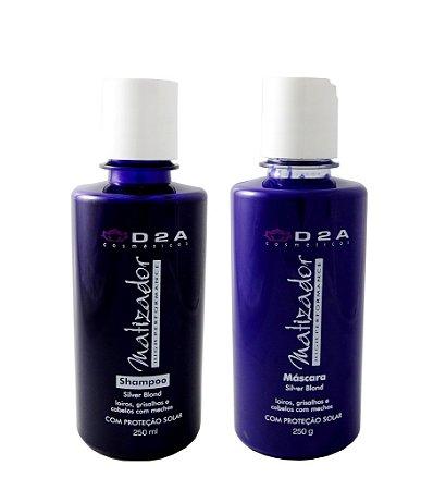 Kit Shampoo e Máscara Matizadora D2A - Linha Home Care