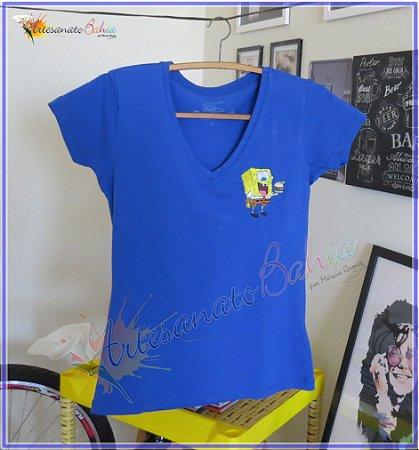 Camiseta Bordada Bob Esponja