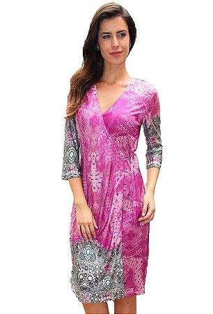 Vestido Envelope Rosa | Joyaly | Moda Evangélica