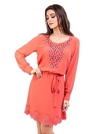 Vestido Renda Decote Barra - 9588 - Joyaly