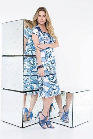 Vestido Decote Princesa - 9801 - Joyaly