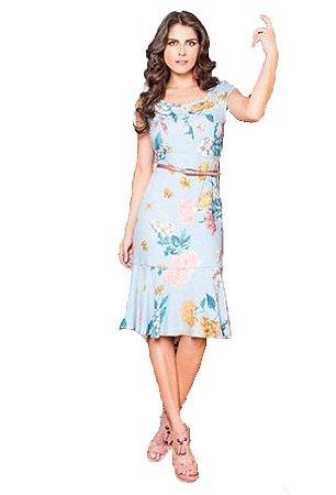 Vestido em Crepe Estampado | Linda Valentina | Moda Evangélica