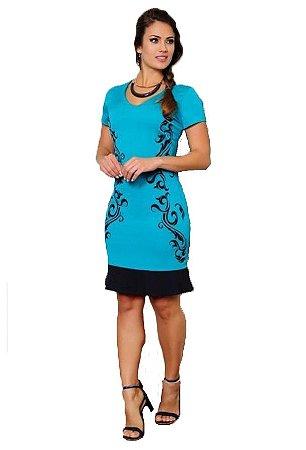Vestido Corte a Laser Peplum | Cássia Segeti | Moda Evangélica
