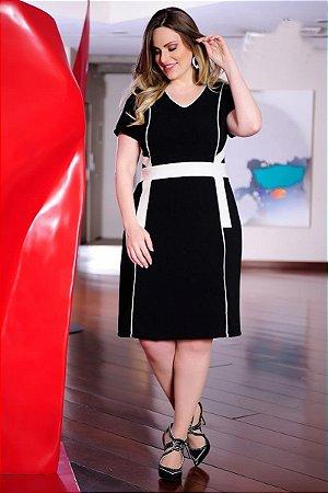 Vestido Saia Evasê e Recorte - 984 - Cassia Segetti