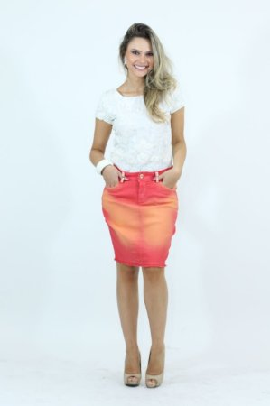 Saia Duo Color | Saiaria | Moda Evangélica