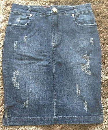Saia Lápis Jeans - 19274 - Linda Valentina