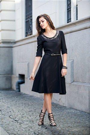 Vestido Lady Like - 9421 - cor azul marinho - Joyaly
