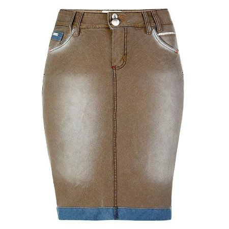 Saia Jeans Plus Size Lisboa | Saiaria | Moda Evangélica