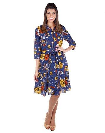 Vestido Chemisier Curto | Joyaly | Moda Evangélica