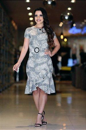 Vestido Jacquard Cascata - 10790 - Joyaly
