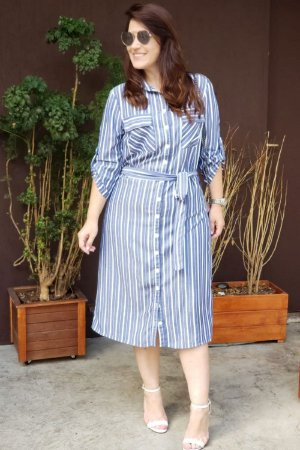 Vestido Chemise com cinto - 8870 - La Seve