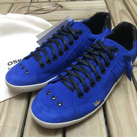 Tênis de Camurça Azul Bic