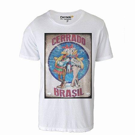 Camiseta Gola Básica Cerrado Brasil - Pollos Hermanos