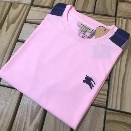 Camiseta B u r b e r r y Rosa com Azul